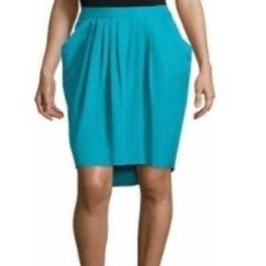 Worthington Turquoise Draped Skirt Size 18